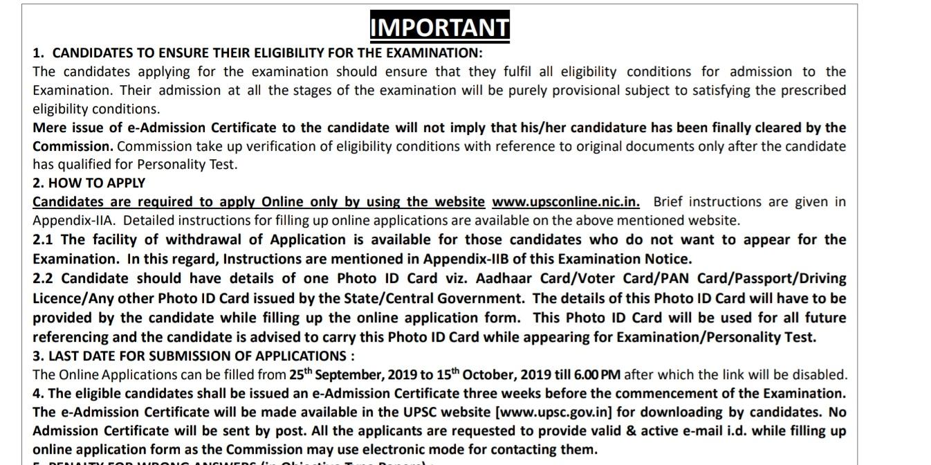 UPSC IES 2020 NOTIFICATION APPLY HERE 495 VACANCIES