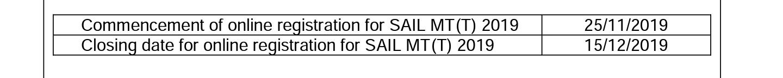 SAIL MT RECRUITMENT 2019 ENGINEERS RECRUITMENT 399 VACANCIES THROUGH GATE 2019