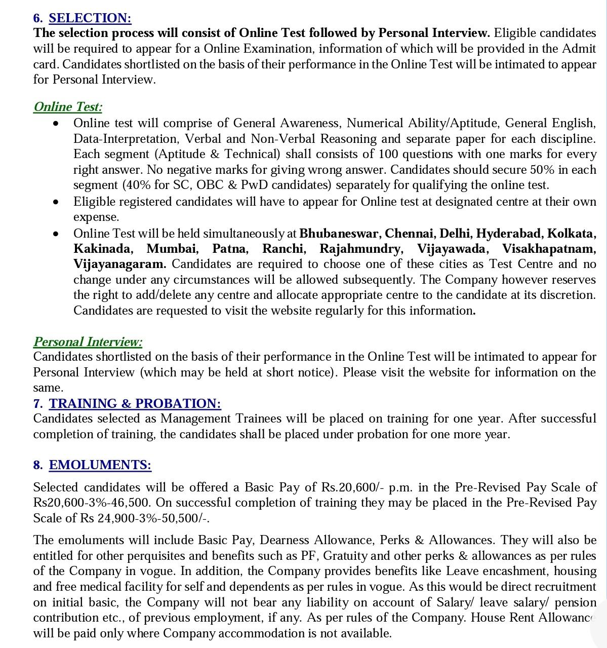RNIL RECRUITMENT 2020 NOTIFICATION 188 MANAGEMENT TRAINEE
