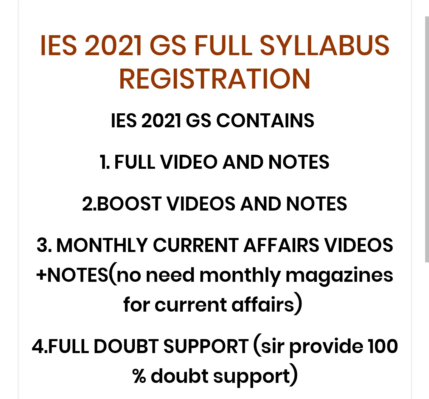 IES 2021 CLASSES STARTED JUST CHECK ALL DETAILS HERE
