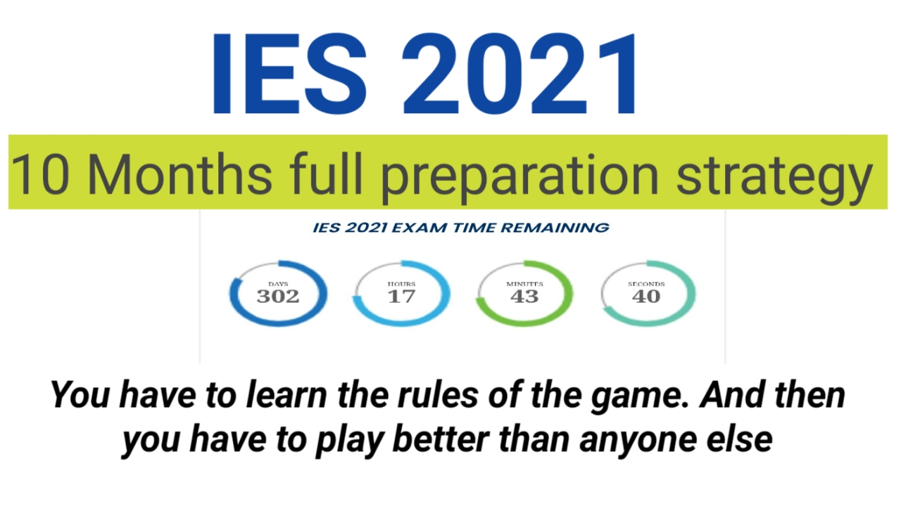 UPSC IES 2021 full 10 months preparation strategy