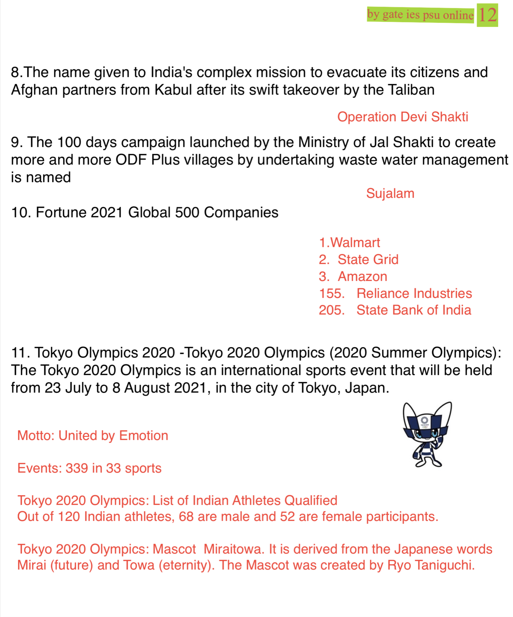 olympic 2020 tokyo upsc current affairs