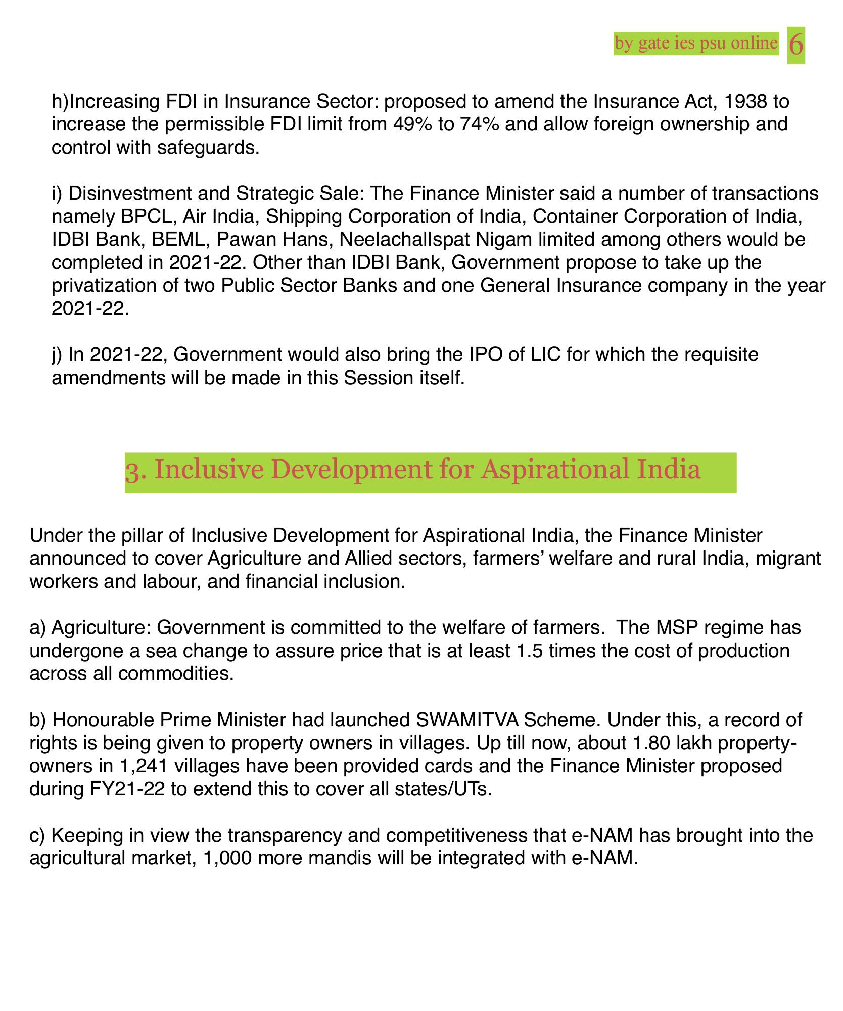 LIC IPO, disinvestment, e Nam 1000,UPSC CURRENT AFFAIRS