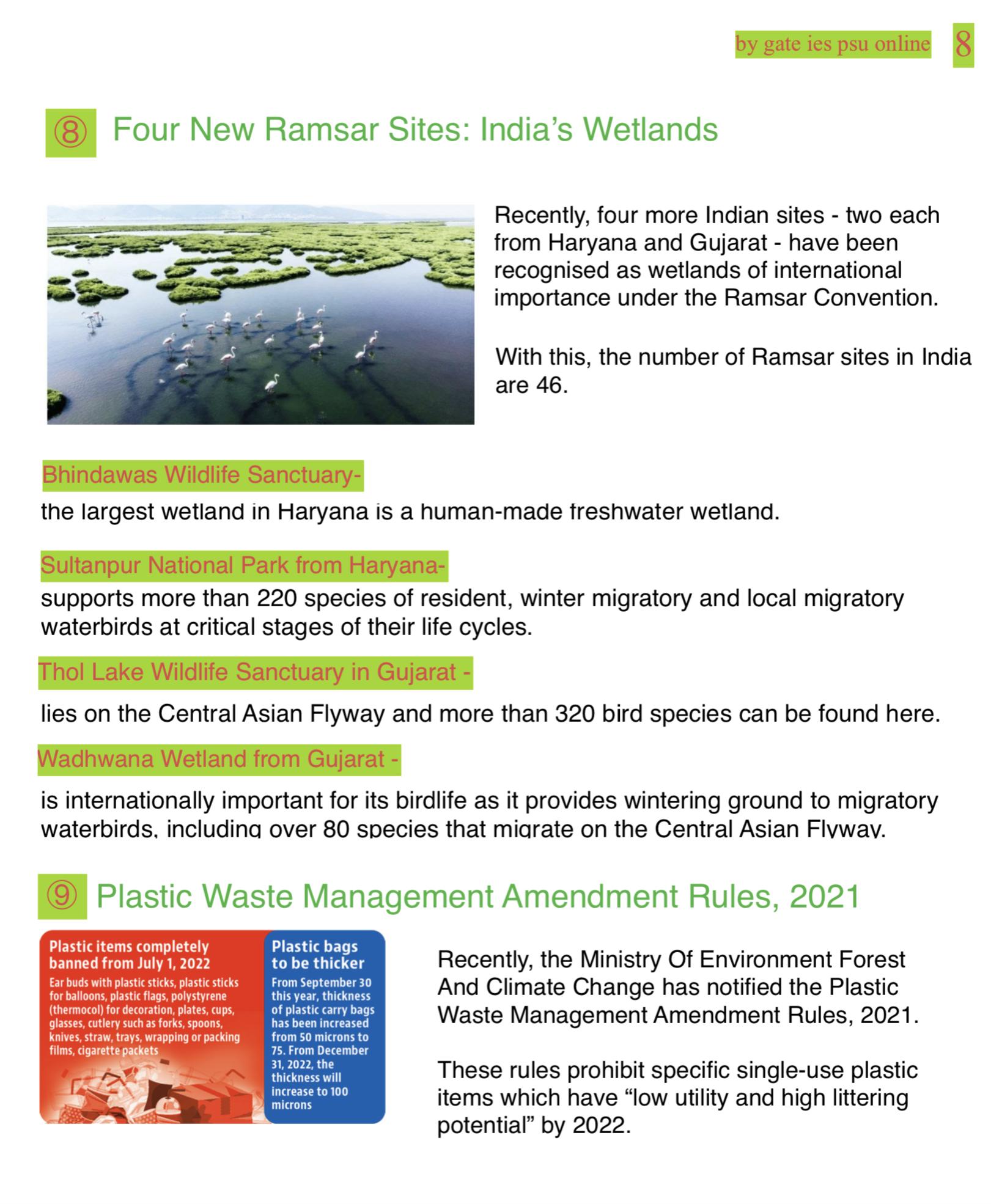 new ramsar sites india current affairs
