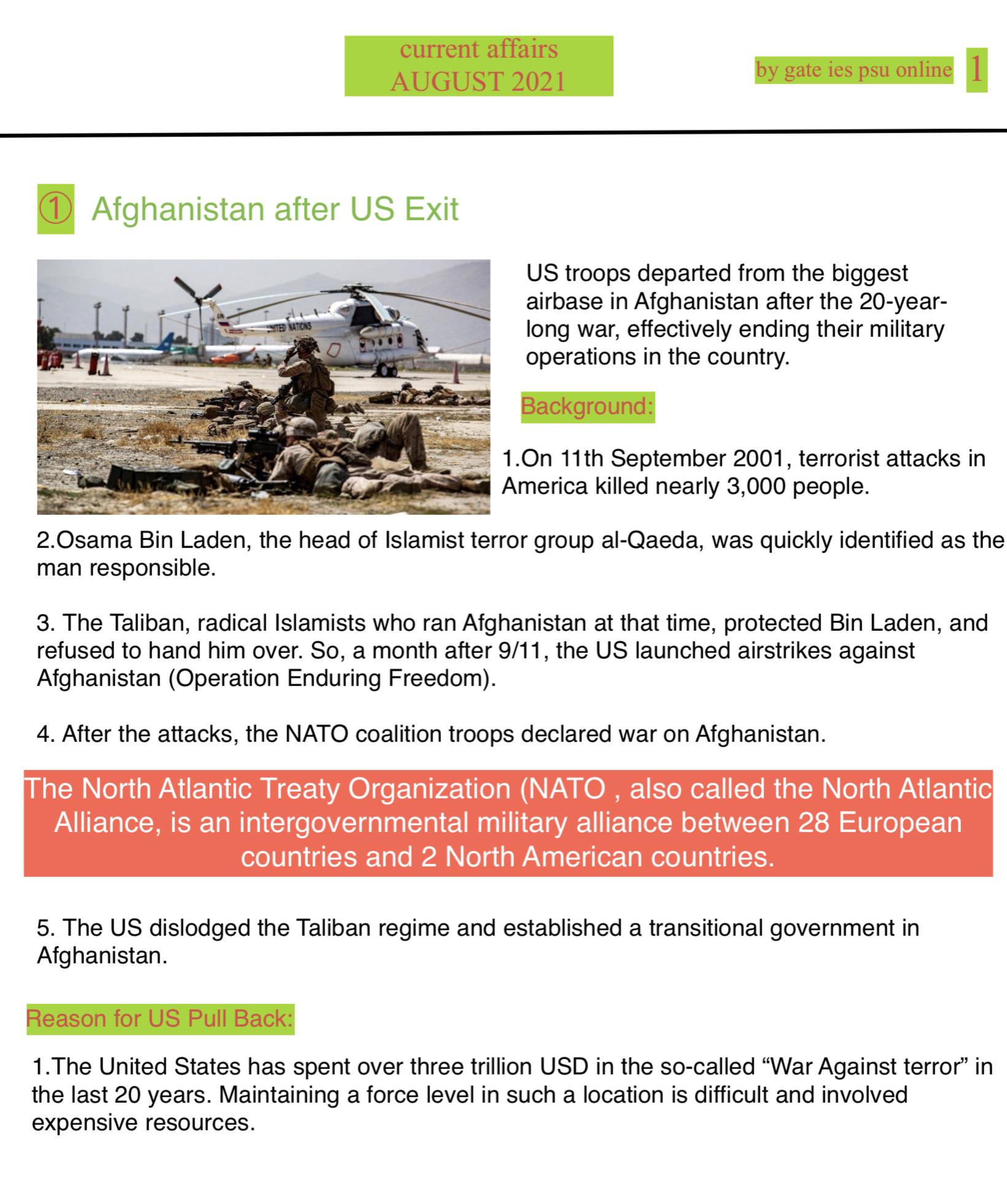 us afghan current affairs upsc