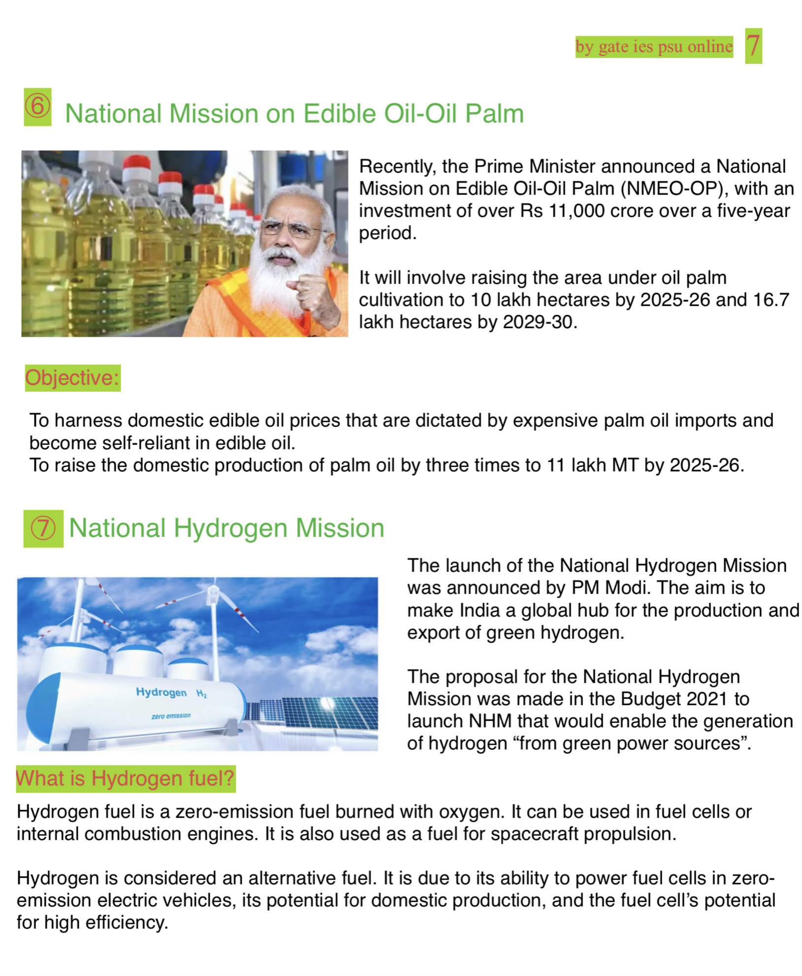 national mission on edible oil scheme current affairs